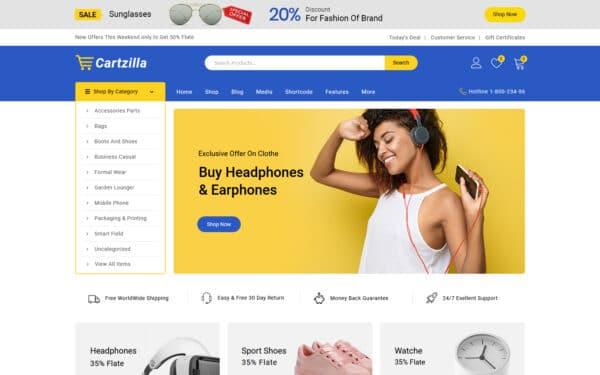 WooCommerce Verkkokauppa - Cartzilla