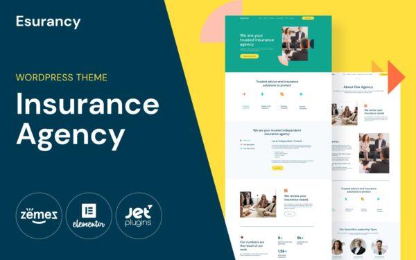 WordPress kotisivut - Esurancy