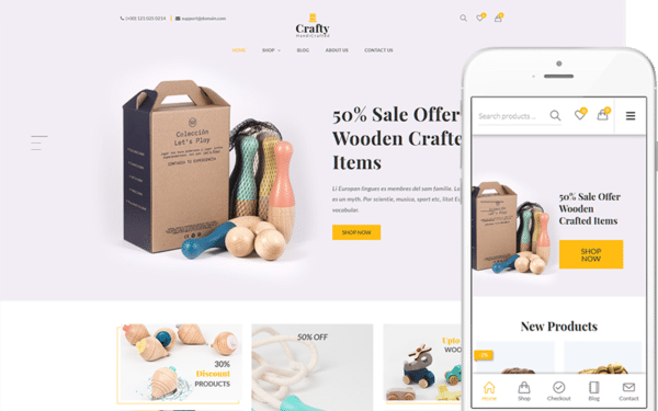 WooCommerce Verkkokauppa – Crafty