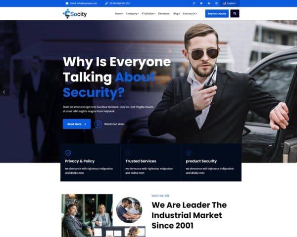 WordPress kotisivut - Socity