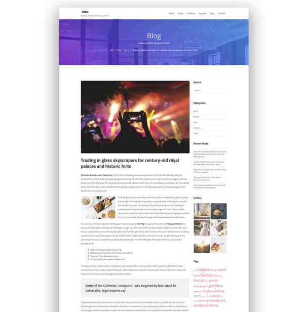 WordPress kotisivut - Jobo