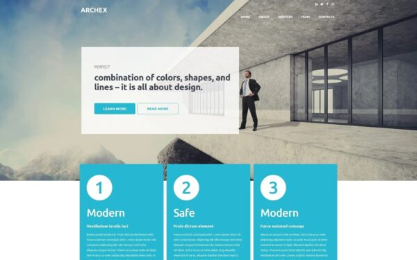 WordPress Kotisivut – Architectural Finish