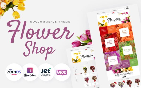 WooCommerce Verkkokauppa – Flower Shop