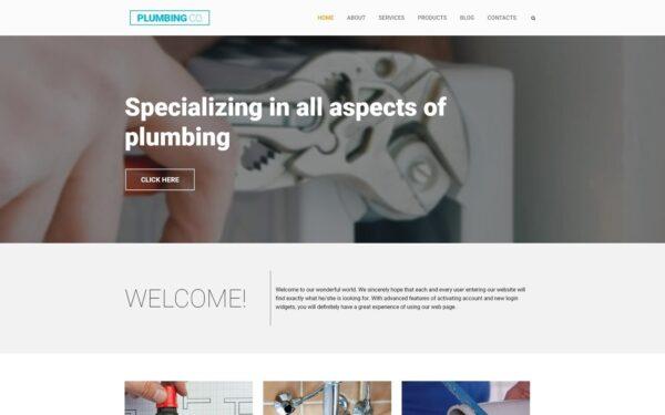 WordPress Kotisivut – Plumbing Co