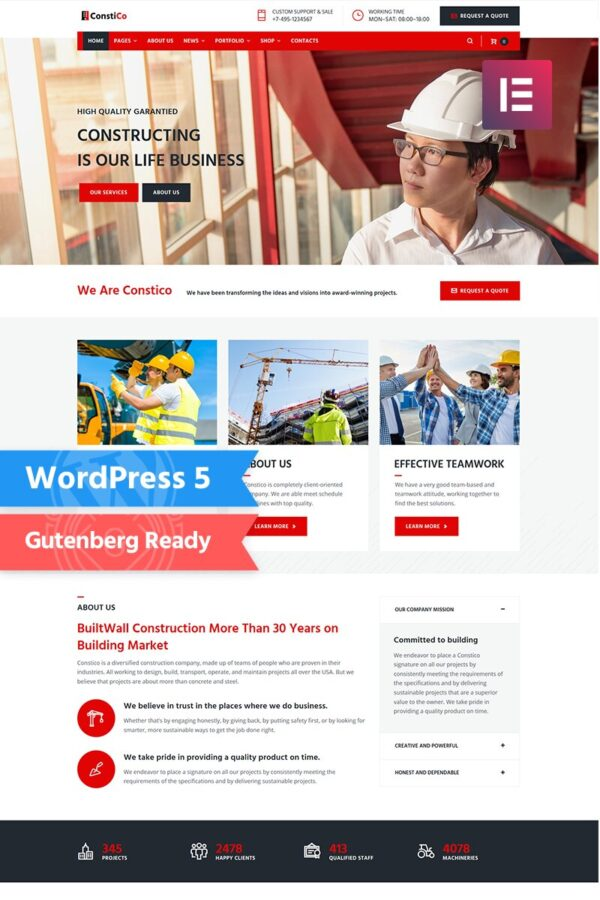 WordPress Kotisivut – Constico