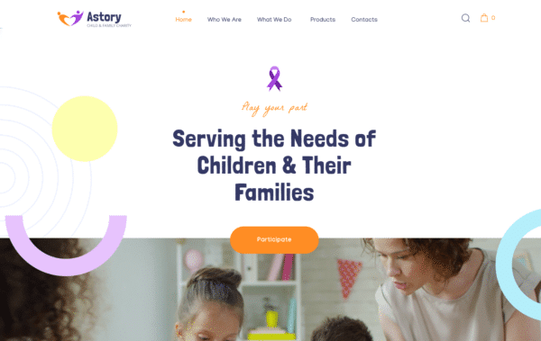 WordPress Kotisivut – Astory - Child Charity