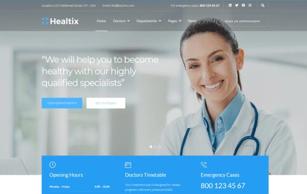 WordPress Kotisivut – Healtix - Family doctor