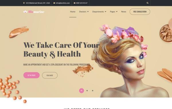 WordPress Kotisivut – Blomarine - Beauty treatment