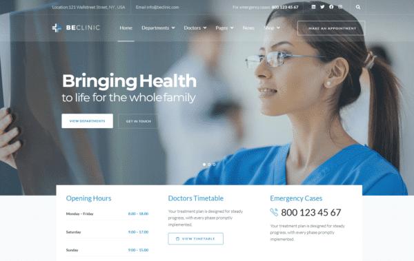 WordPress Kotisivut – Beclinic Clinic Default