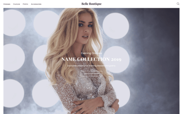 WordPress Kotisivut – Monstroid Belle Boutique