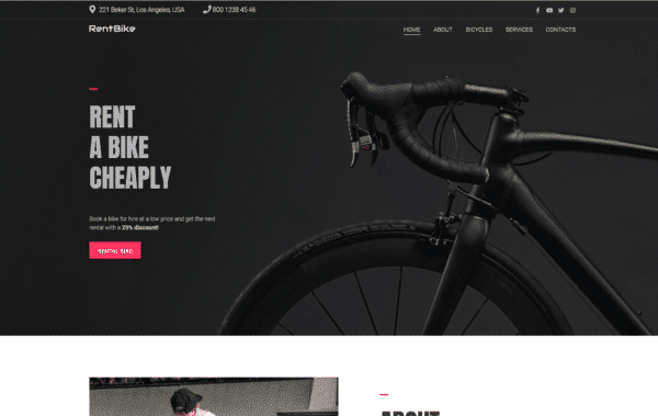 WordPress Kotisivut – Monstroid BikeRental