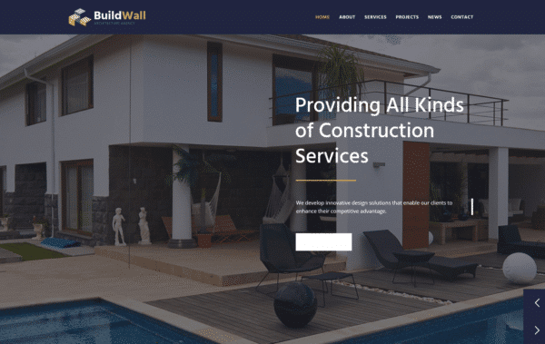 WordPress Kotisivut – BuildWall Architect 2