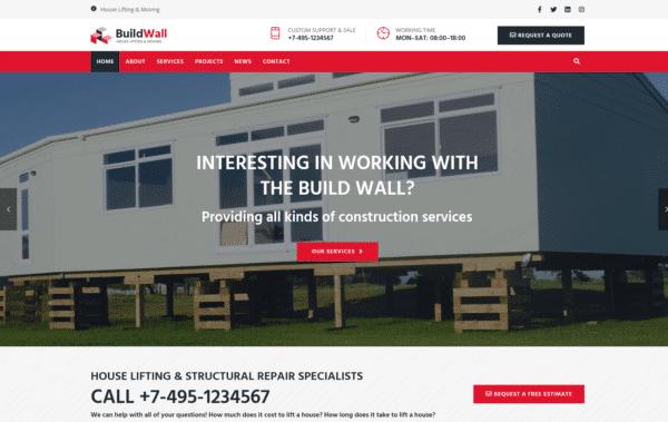 WordPress Kotisivut – BuildWall House Moving
