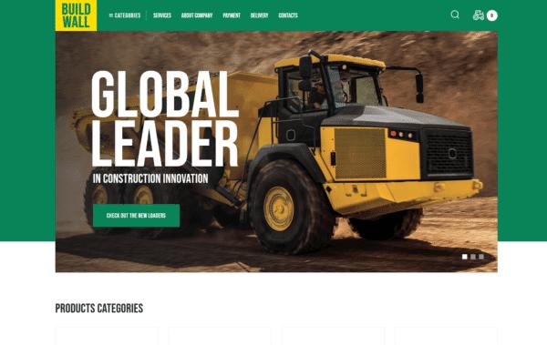 WordPress Kotisivut – BuildWall Construction Equipment