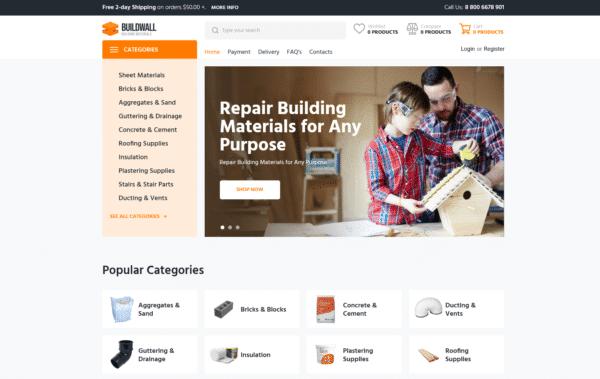 WordPress Kotisivut – BuildWall Building Materials
