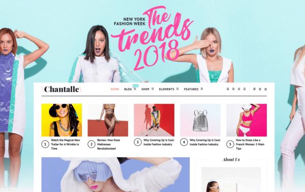 WordPress Kotisivut – Chantalle Fashion Blog