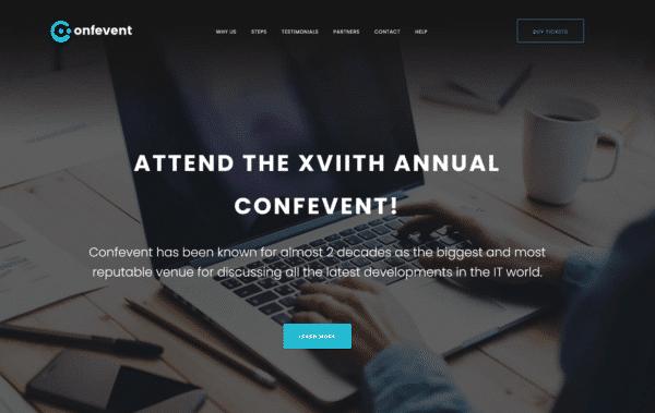 WordPress Kotisivut – Confevent