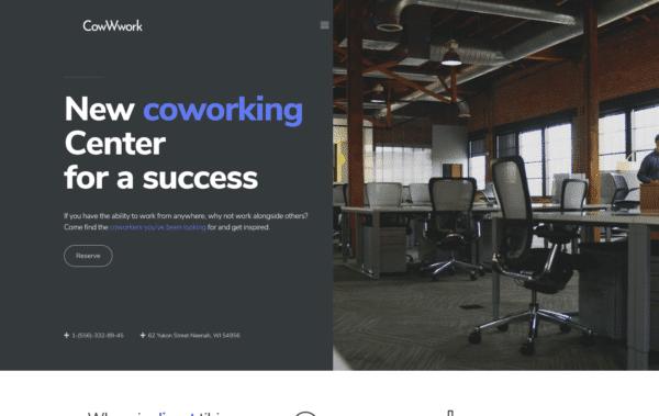 WordPress Kotisivut – Monstroid Coworking