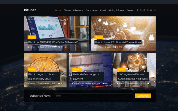 WordPress Kotisivut – Bitunet Crypto Blog