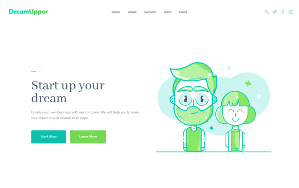 WordPress Kotisivut – Monstroid DreamUpper