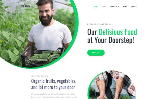 WordPress Kotisivut – Monstroid Eco Farm