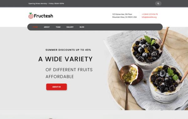 WordPress Kotisivut – Monstroid Fructesh