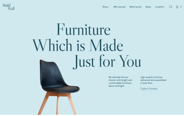 WordPress Kotisivut – BuildWall Furniture Design