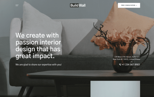 WordPress Kotisivut – BuildWall Interior Design