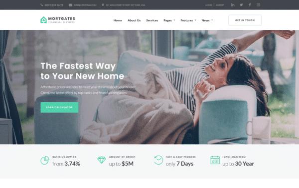 WordPress Kotisivut – Monstroid Mortgates