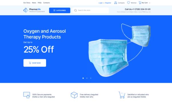 WordPress Kotisivut – PharmaLife - Pharmacy