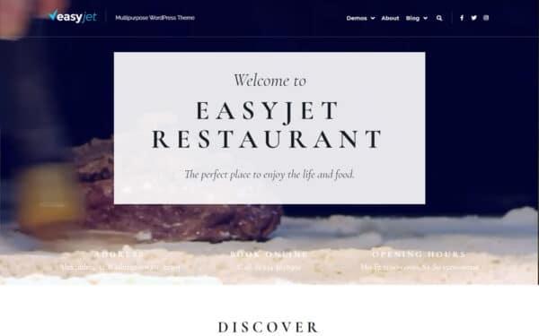 WordPress Kotisivut – EasyJet Restaurant
