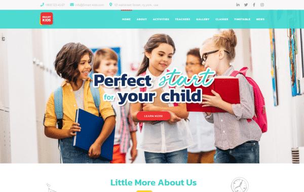 WordPress Kotisivut – Monstroid Smart Kids