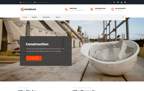 WordPress Kotisivut – Monstroid SolidBuild