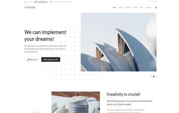WordPress Kotisivut – Monstroid Tectonity