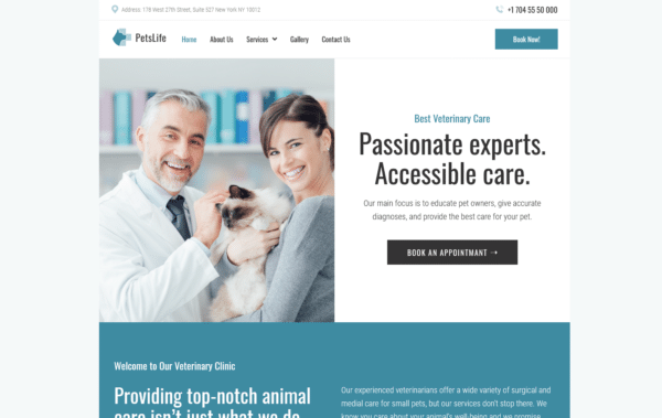 WordPress Kotisivut – Petslife - Veterinary