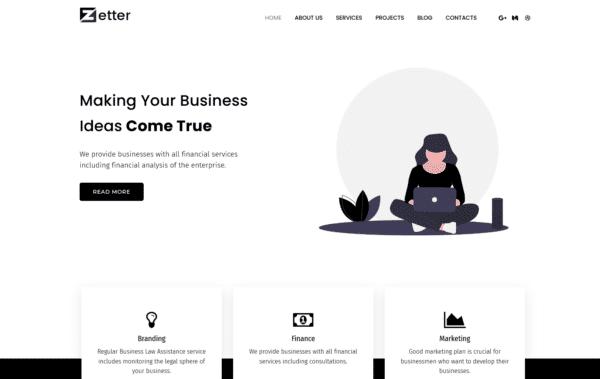 WordPress Kotisivut – Monstroid Zetter
