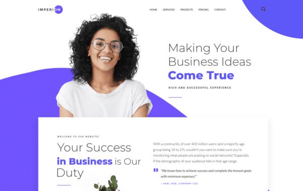 WordPress Kotisivut – Imperion Corporate Landing