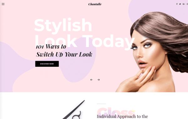WordPress Kotisivut – Chantalle Hair Salon