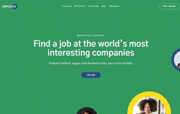 WordPress Kotisivut – Imperion jobboard