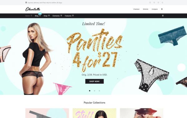 WordPress Kotisivut – Chantalle Lingerie Store