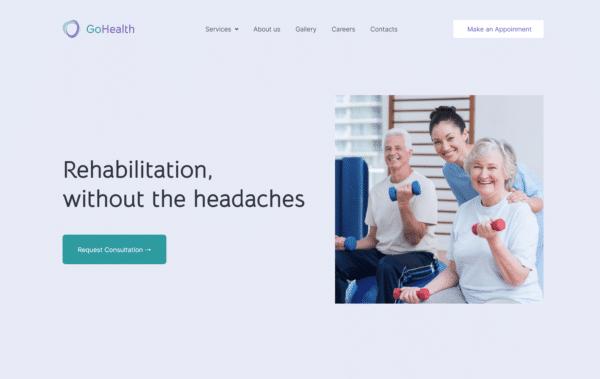WordPress Kotisivut – GoHealth - Rehabilitation