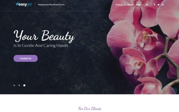 WordPress Kotisivut – EasyJet Edem Spa