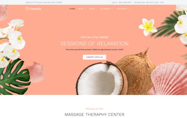 WordPress Kotisivut – Chantalle SPA Salon