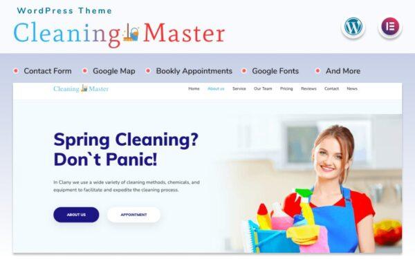 WordPress Kotisivut – Cleaning Master