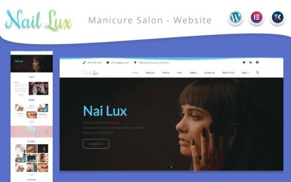 WordPress Kotisivut – Nail Lux