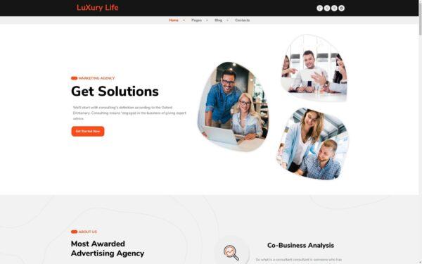 WordPress Kotisivut – LuxuryLife