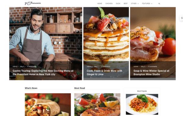WordPress Kotisivut – 24.Storycle Recipe Blog