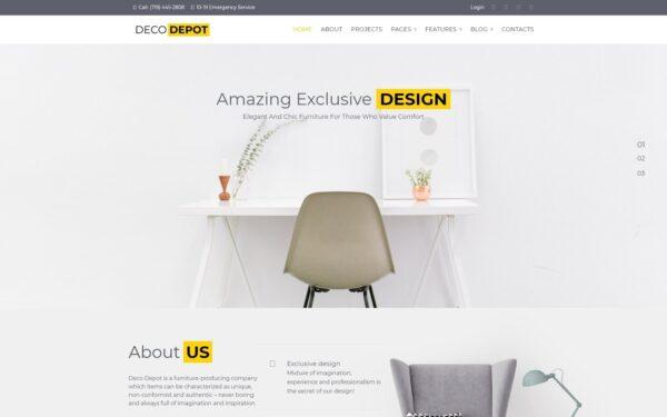 WordPress Kotisivut – Deco Depot
