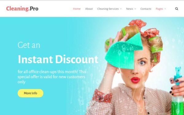 WordPress Kotisivut – CleaningPro