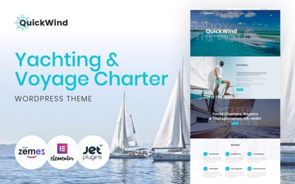 WordPress Kotisivut – Yachting & Voyage Charter